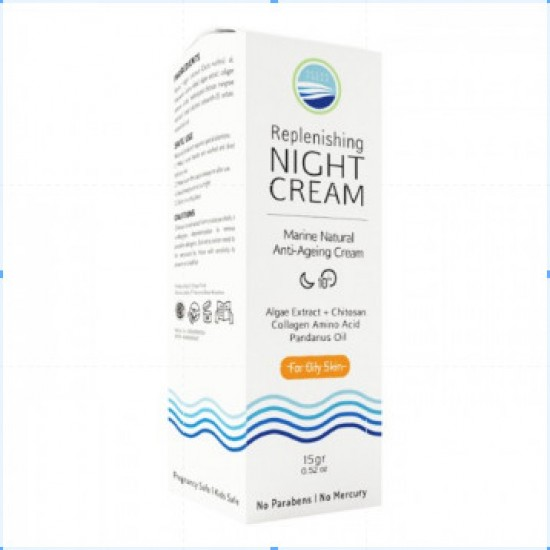 Ocean Fresh Replenishing Night Cream 15gr for Oily Skin, Jerawat
