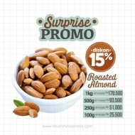Almond Panggang Original (Roasted Almond Plain) 500gr