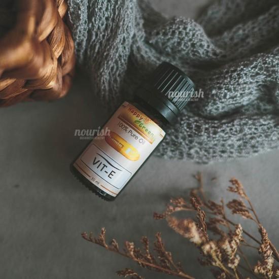 Happy Green Natural Vitamin E Oil (10 ml) Untuk Perawatan Rambut Kulit