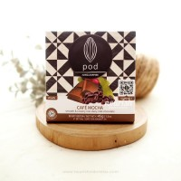 Pod Chocolate, Cafe Mocha 45gr (Smooth & Creamy Vegan Milk Chocolate)