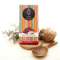 Pod Chocolate, Goji Berry & Coconut 100gr (Vegan Chocolate)