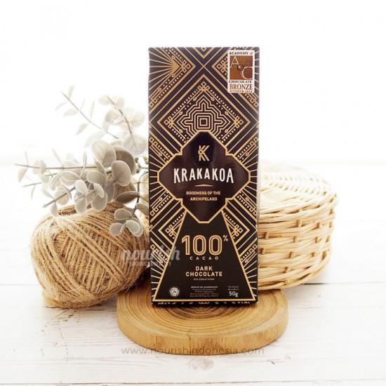 Krakakoa, Arenga 100% Dark Chocolate 50gr (No White Sugar Chocolate)