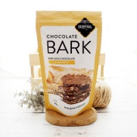 Krakakoa, Chocolate Bark, Dark Milk Chocolate with Baguette 100gr