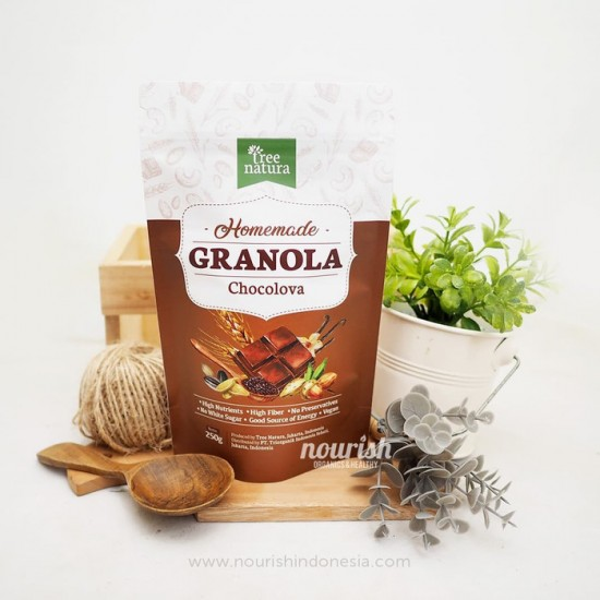 Tree Natura, Granola Chocolova 250gr (Dark Chocolate)