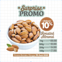 Almond Panggang Original (Roasted Almond Plain) 100 gr