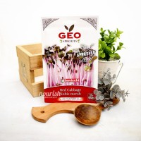 Geo Sprouts, Organic Red Cabbage Sprout Seed 12 g