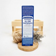Dr Bronners All-One Toothpaste Peppermint - 140 g