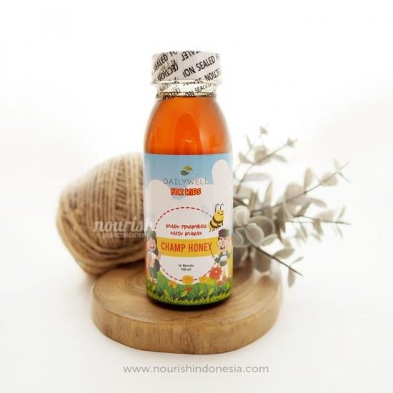 Dailywell Champ Honey for kids (Madu Penambah Nafsu Makan anak)100 ml