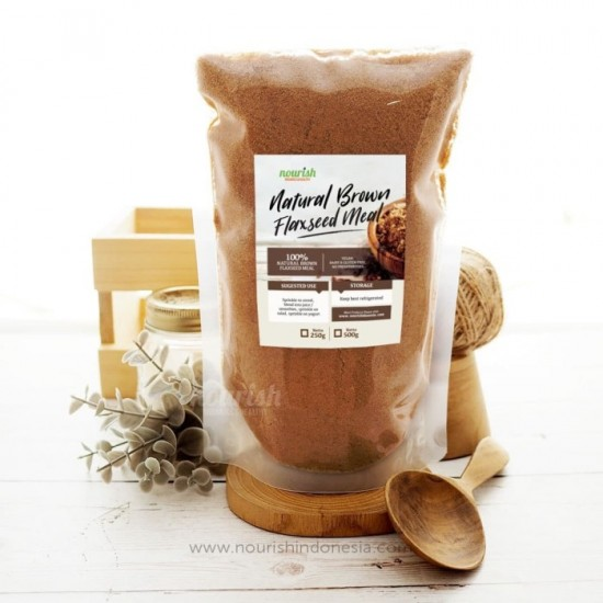 Nourish Indonesia, Natural Brown Flaxseed Meal 500 gr