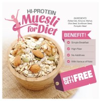BUY 1 GET 1 FREE Hi-Protein Muesli (500gr x  2pc)
