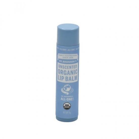 Dr Bronners Organic Lip Balm - Unscented 4 gr