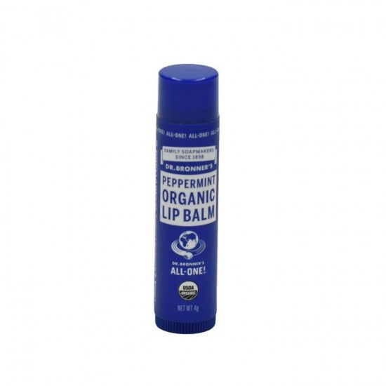 Dr Bronners Organic Lip Balm - Peppermint 4 gr