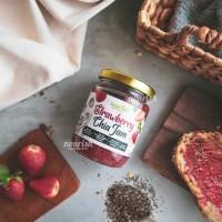 Strawberry Chia Jam with Madu Uray 250 gr (Selai Strawberry Chia Seed)