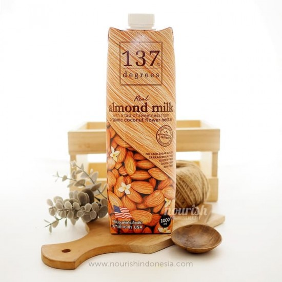137 Degrees Real Almond Milk With Organic Coconut Nectar 1L