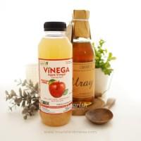 Paket Vinega Cuka Apel 500gr + Madu Uray 330ml