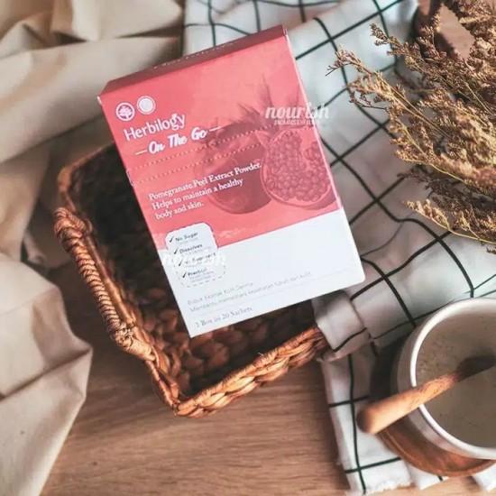 Herbilogy On The Go Pomegranate Peel Extract Powder 20 sachet