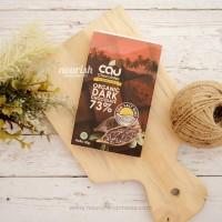 Cau Chocolate, Organic Dark Chocolate 73% Sea salt + NIbs 50gr