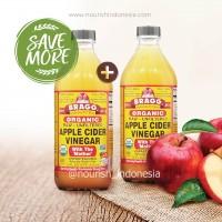Bragg,Organic Apple Cider Vinegar (ACV / Cuka Apel)473 ml for 2pc
