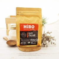 Hibo, Organic Coffee Bean (Biji Kopi Organik) Black Italian 200gr
