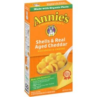 Annie's Homegrown, Shells & Real Aged Cheddar, Macaroni & Cheese, 6 oz (170 g)