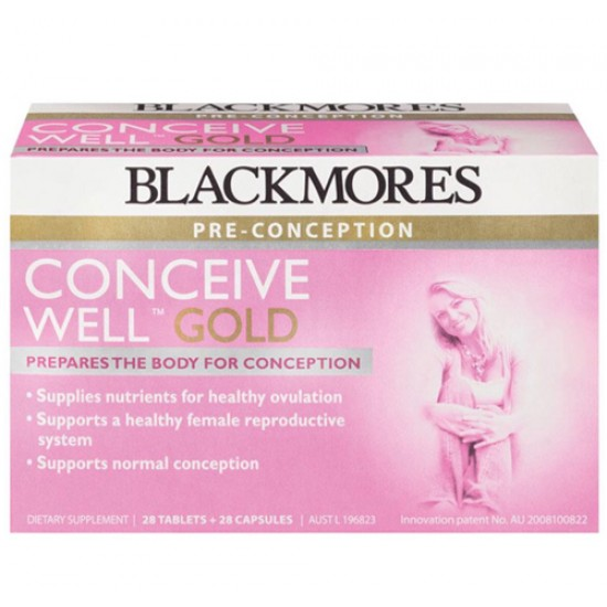 Blackmores Conceive well gold isi 28 tablets + 28 capsules