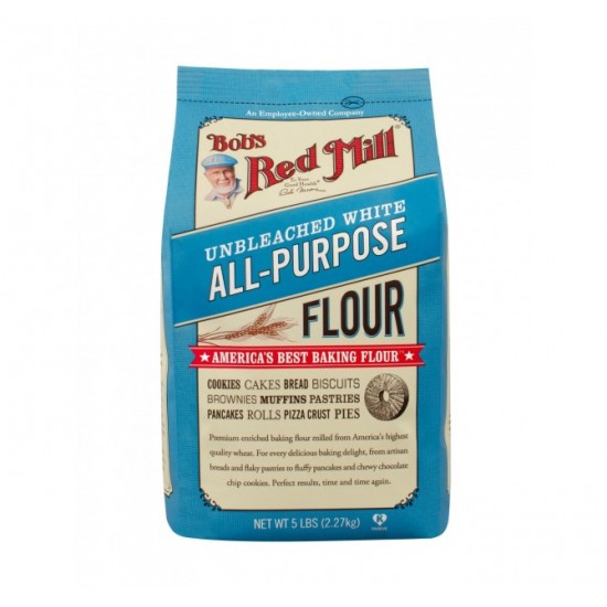 Bob's Red Mill, All-Purpose Unbleached White Flour, 5 lbs (2.27 kg)