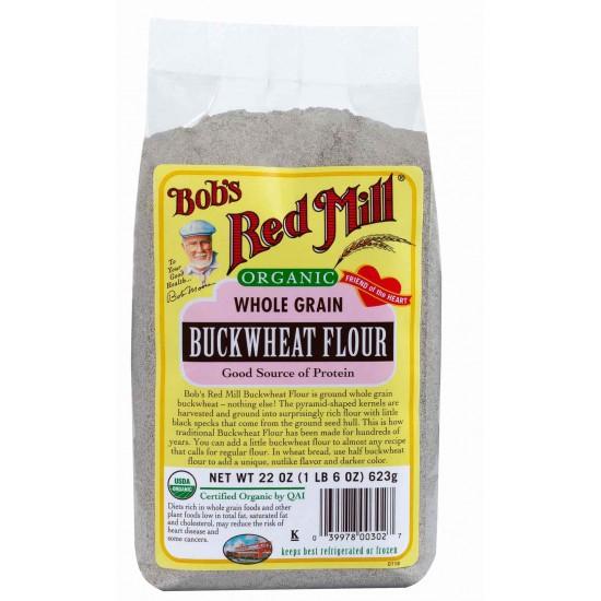 Bob's Red Mill Organic Buckwheat Flour -- 22 oz (623 gr)