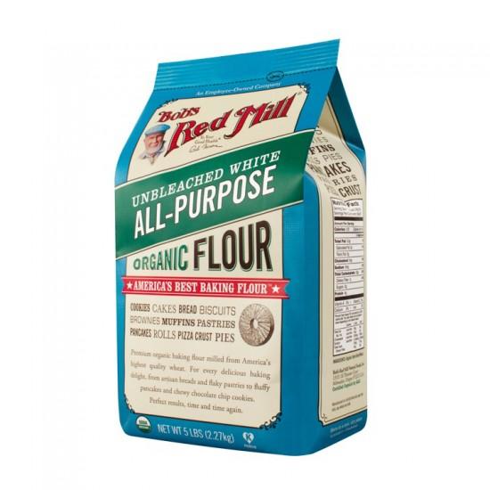 Bob's Red Mill, Organic Unbleached White All-Purpose Flour, 48 oz (1.35 kg)