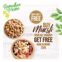 BUY 1 GET 1 FREE, Buy Muesli Get Free Raw Almond 250gr