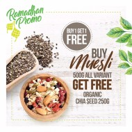 BUY 1 GET 1 FREE, Buy Muesli Get Free Organic Chia Seed 250gr