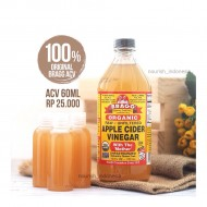 BRAGG Apple Cider Vinegar - 60 Ml (kemasan REPACK 100% ORIGINAL)