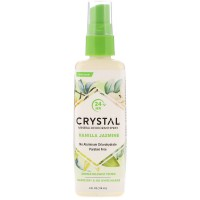 Crystal Body Deodorant, Mineral Deodorant Spray, Vanilla Jasmine (118 ml)