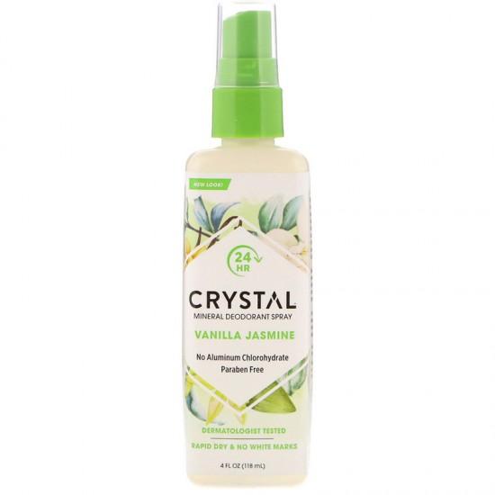 Crystal Body Deodorant, Mineral Deodorant Spray, Vanilla Jasmine (118 ml)