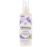 Crystal Body Deodorant, Mineral Deodorant Spray, Lavender & White Tea (118 ml)