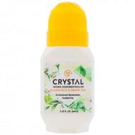 Crystal Body Deodorant, Crystal Essence, Mineral Deodorant Roll On, Chamomile & Green Tea, 2.25 fl oz (66 ml)