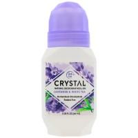 Crystal Body Deodorant, Crystal Essence, Mineral Deodorant Roll-On, Lavender & White Tea, 2.25 fl oz (66 ml)