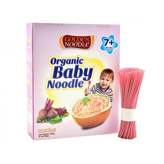 Golden Noodle, Organic Beetroot Baby Misua Noodle 200gr