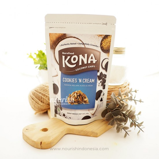 Barefood Kona Coconut Chips Cookies N Cream 45gr