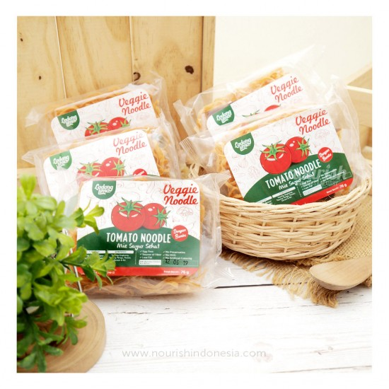 Ladang Lima, Paket 5pc Mie Tomat 76g Dengan Bumbu non MSG