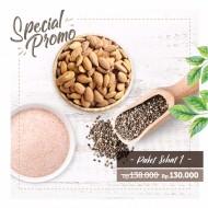 Paket Sehat 1 (250gr Roasted Almond, Organic Chia Seed, Himalayan Salt )