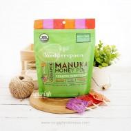 Wedderspoon, Organic Manuka Honey Pops For Kids, Orange, Grape & Raspberry, 24 pc