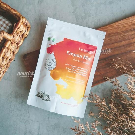 Herbilogy Empon Mix (Bubuk ekstrak Kunyit, Temulawak, Jahe Merah) 100g