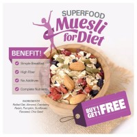 BUY 1 GET 1 FREE Superfood Muesli BUY 1 GET 1 FREE (500gr x  2pc)