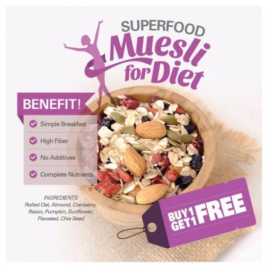 BUY 1 GET 1 FREE Superfood Muesli BUY 1 GET 1 FREE (500gr x  2pc)