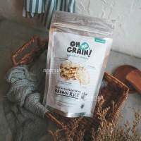 Oh Ma Grain, Organic Brown Rice Cakes Salt & Black Pepper 45 gr