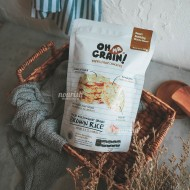 Oh Ma Grain, Organic Brown Rice Cakes Garlic 45 gr