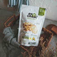 Oh Ma Grain, Organic Brown Rice Cakes Roasted Corn 45 gr