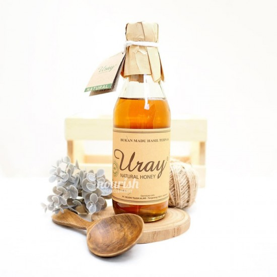 Madu Uray / Madu Lebah Hutan / 100% Raw Natural Honey 330ml