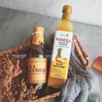Paket Vinega Cuka Nanas 500gr + Madu Uray 330ml